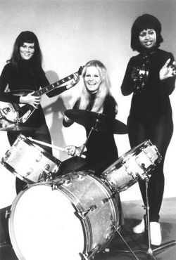 Josie and the Pussycats...and yes, that's Charlie's Angel's Cheryl Ladd on drums. She sings on this record