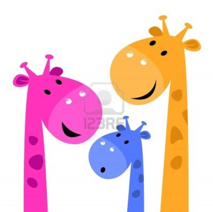 Group of giraffes collective. Vector cartoon Illustration Stock Photo - 15046658
