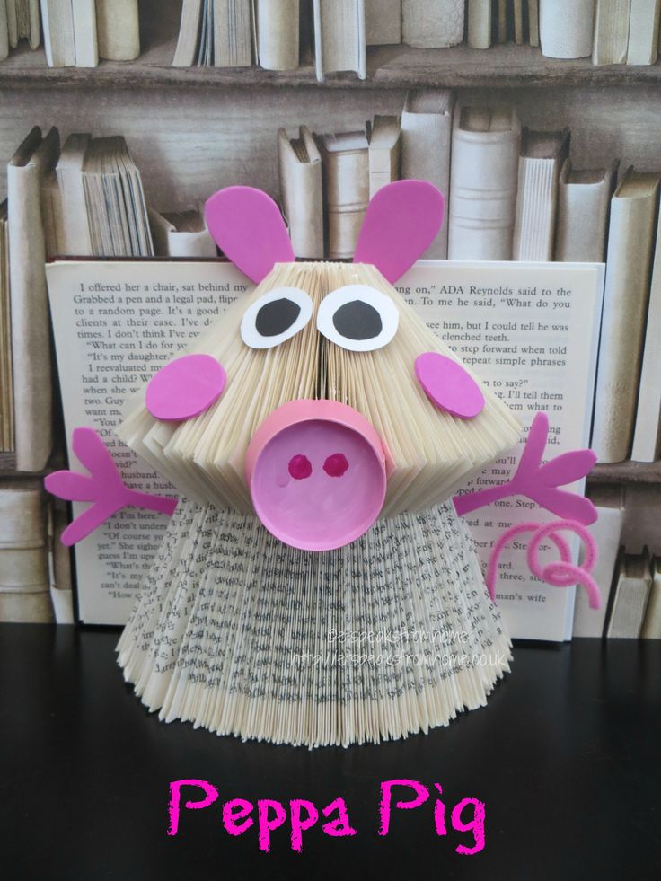 Book Folding Peppa Pig Book Art Tutorial