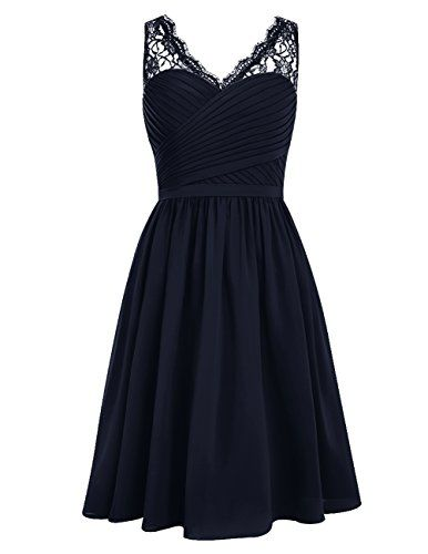 Dresstells® Short Homecoming Dress V-neck Ruched Chiffon Bridesmaid Prom Dress Navy Size 2 Dresstells http://www.amazon.com/dp/B0198EJKY0/ref=cm_sw_r_pi_dp_I8gbxb0NT1RMN