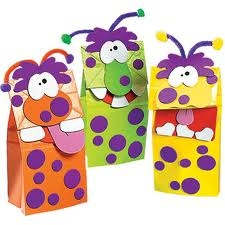 monster paper bag puppets