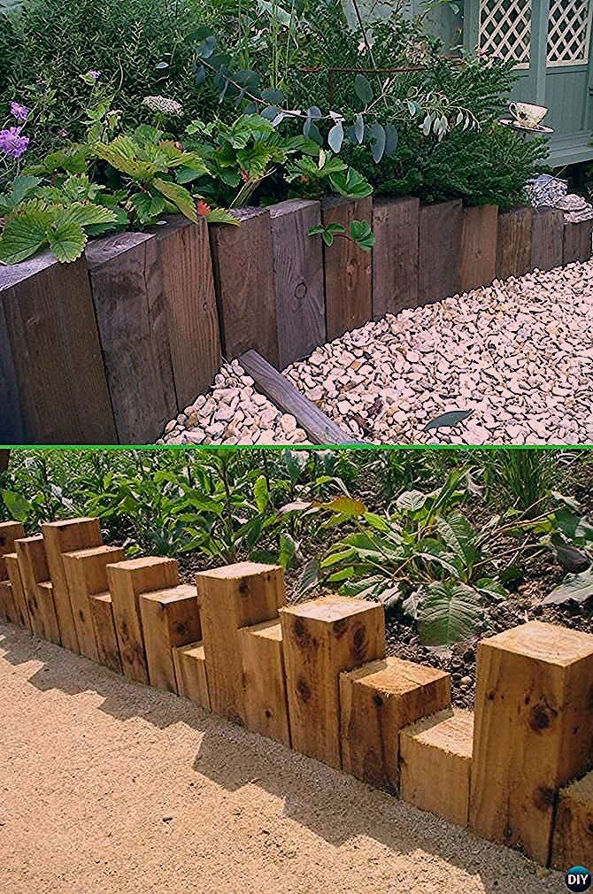Creative Garden Bed Edging Ideas Projects Instructions En 2020