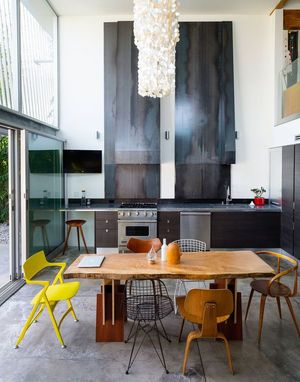 Kitchen / Mismatched Chairs / Mother Of Pearl Chandelier Part 69
