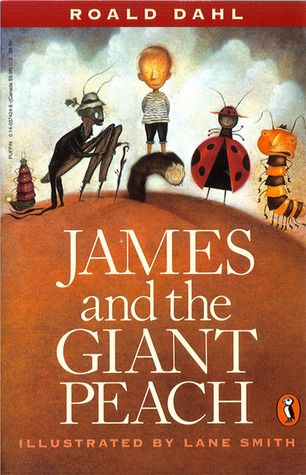 """Childhood classic.  the story of """"...how James escapes from his miserable life with two nasty aunts and becomes a hero to his new insect family, including Miss Spider, the Old-Green-Grasshopper, the Centipede (with his 21 pairs of gorgeous boots)..."""""""