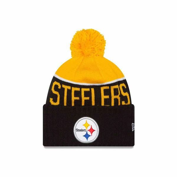 01118fa1d42b1c ... hat striped cuff pom beanie stocking cap nfl 33dcb 39f2d; australia  picture of pittsburgh steelers new era on field players sport knit cap  2422b 43698