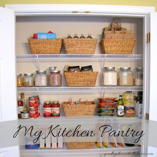 An Organized Pantry @Goodbye, house. Hello, Home!