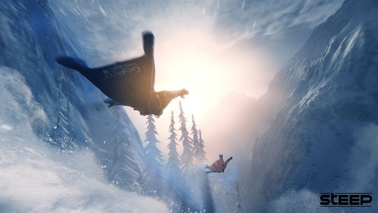 Steep estdisponible surPc, Xbox One et PS4.  Parcourez un immense monde ouvert inspiré des Alpes et de l'Alaska, où la poudreuse est toujours bonne et la piste infinie. Défiez et domptez les sommets les plus épiques en ski, wingsuit, snowboard ou encore en parapente. Lancez-vous seul ou aux côtés d'autres joueurs. Enregistrez et partagez vos figures les plus éblouissantes. Laissez vos amis suivre vos traces, réalisez des figures incroyables et revivez vos chutes les plus épiques.