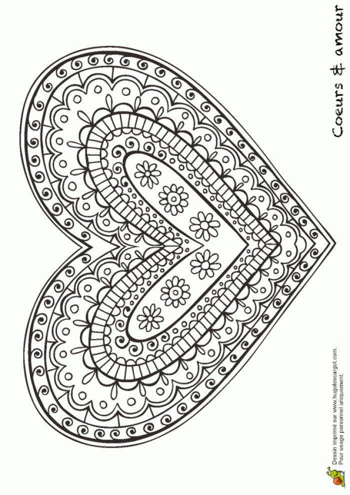 doodle heart coloring page 687 best zentangle images on to 4277