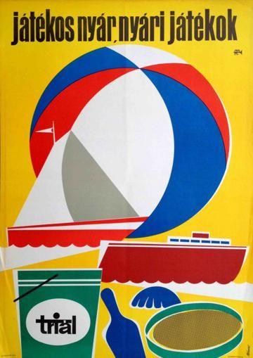 Playful summer, summer toys. Triál Bánki László 1965
