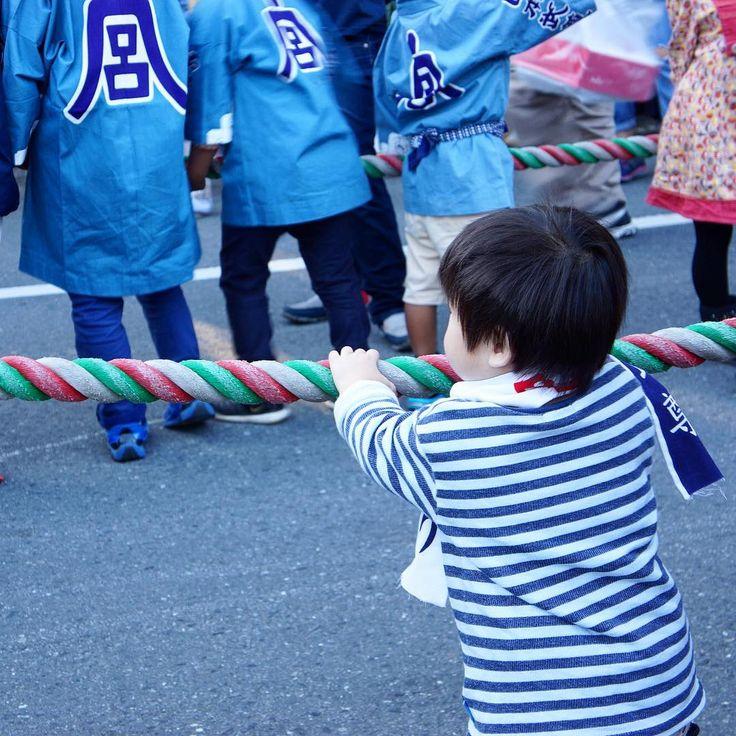 The littlest helper. Kawagoe Matsuri, Saitama, Japan