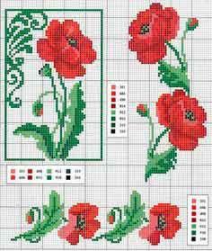 Gráficos de flores punto de cruz gratis - La mansión de las ideas