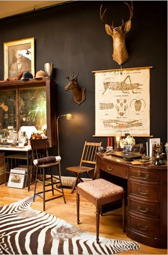 Handsome home study. A study in nature.