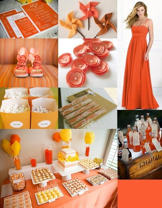 Tangerine Orange Wedding Ideas from The Wedding Community