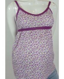 Fanti Singlet purple  lief topje met paars en gele bloemen, Ideaal voor de zomer maar ook met minder mooi weer leuk onder een jasje te dragen.