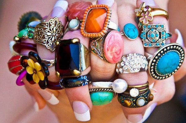 Funky Fashion Rings Cheap All girls love with rings and