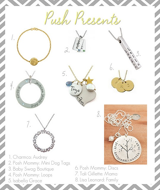 Ideas for a push present maybe.... ;)  www.lifeandbaby.com