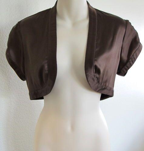 Marciano designer guess bolero dress jacket shrug silk for Designer bolero