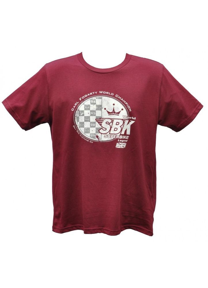 Carl Fogarty SBK T-Shirt  Oily Rag OR-F1 Official Foggy Merchandise Size Large