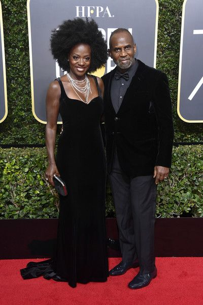 Actress Viola Davis (L) and her husband actor Julius Tennon attend The 75th Annual Golden Globe Awards at The Beverly Hilton Hotel on January 7, 2018 in Beverly Hills, California. - Viola Davis Photos - 11 of 3585