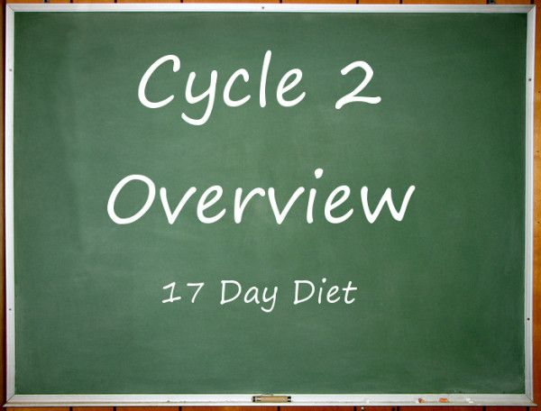 Cycle 2 of the 17 Day Diet consists of alternating high and low caloric days to confuse your body by choosing from Cycle 2 food list.
