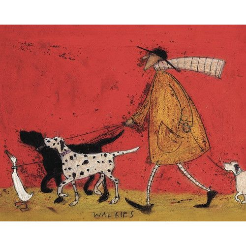 found it at wayfaircouk walkies by sam toft canvas wall art