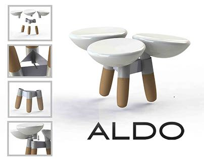 """Check out new work on my @Behance portfolio: """"3 Seat Short stool for Aldo stool…"""