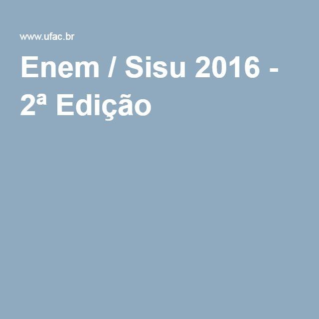 Enem / Sisu 2016 - 2ª Edição —