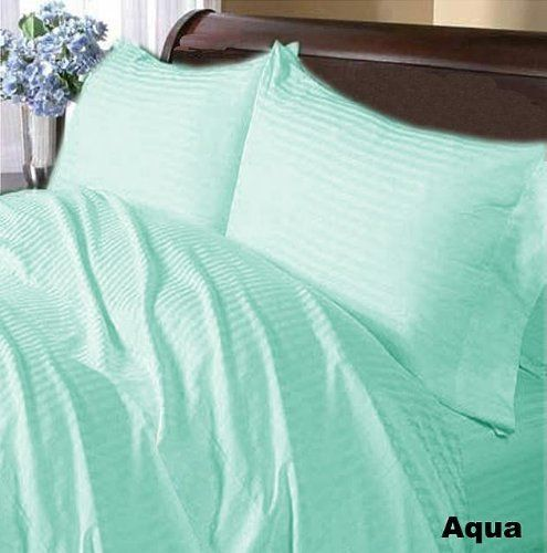300 TC Deluxe Ultra 100% Egyptian cotton Elegant Duvet Cover 300 THREADS Full XL Aqua Stripe by pearlbedding. $93.99. This is one Duvet Cover only. Experience true luxury when you sleep on these Eqyptian cotton sheets.. THREAD COUNT/MATERIAL: 300TC , 100% Egyptian Cotton. Brand New and Factory Sealed. No Ironing Necessary. Extra Comfortable and most Contemporary Duvet set.. Super Soft sheets with super soft comfort, luxury and style a cut above the rest. Beautif...