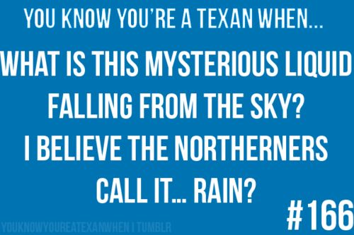 for sure!!!Things Texas, You Know You'R A Texans When, Funny, So True, You Know Your A Texans, Random Awesome, West Texas, Rain, You Know You'R Texans