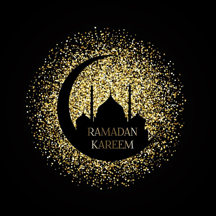 Gold Ramadan Kareem Background, Confetti, Ramadan Mubarak, Mosque,celebration PNG and Vector with Transparent Background for Free Download