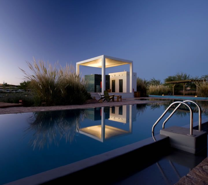pool in the dark