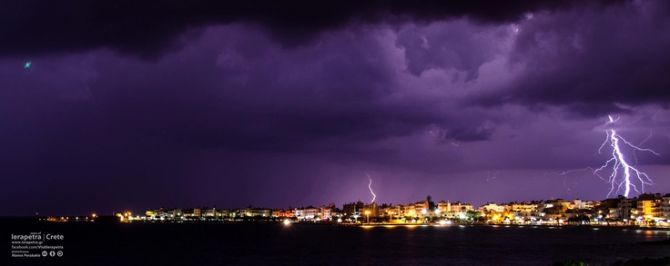 A magnificent sight! Stormy Ierapetra..
