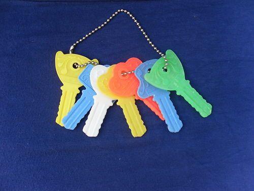 Plastic key rattle