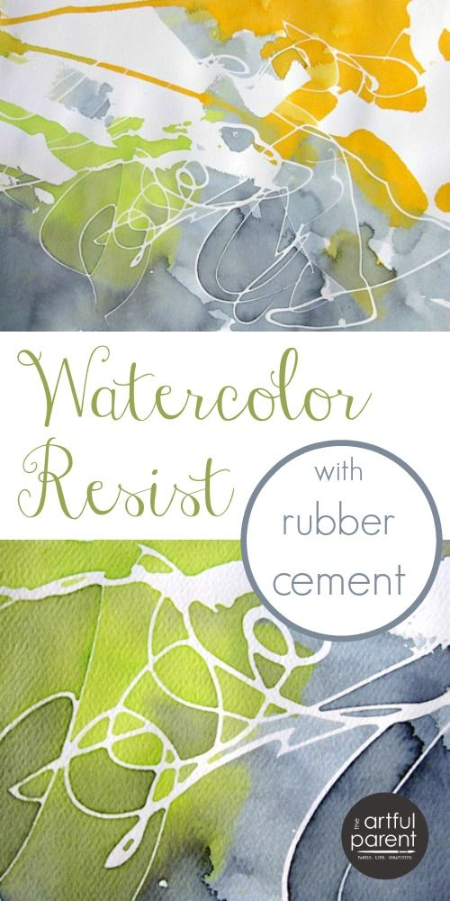Rubber Cement Resist with Watercolors