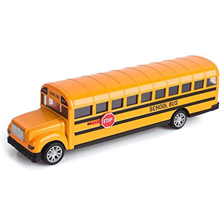 Think Wing Bus Spielzeug für Kleinkinder 21 cm Druckguss Schulbus Spielzeugauto…