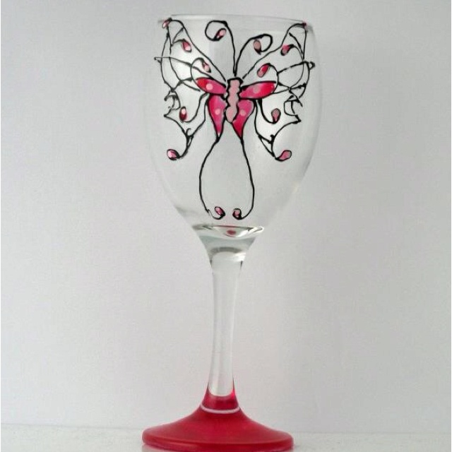 Wedding favours from mlt handpainted wine glasses