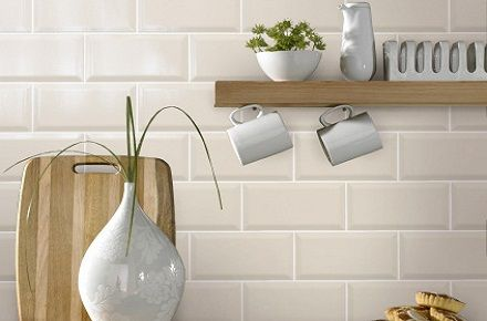 | Bevelled Cream Brick Wall Tile | Buy Online