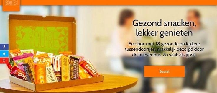 Nieuwe website voor gezonde tussendoortjes van BoxBites