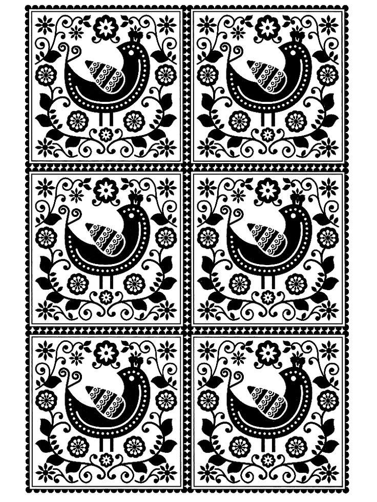 Scandinavian PatternScandinavian DesignAdult Coloring PagesColoring BooksStencil
