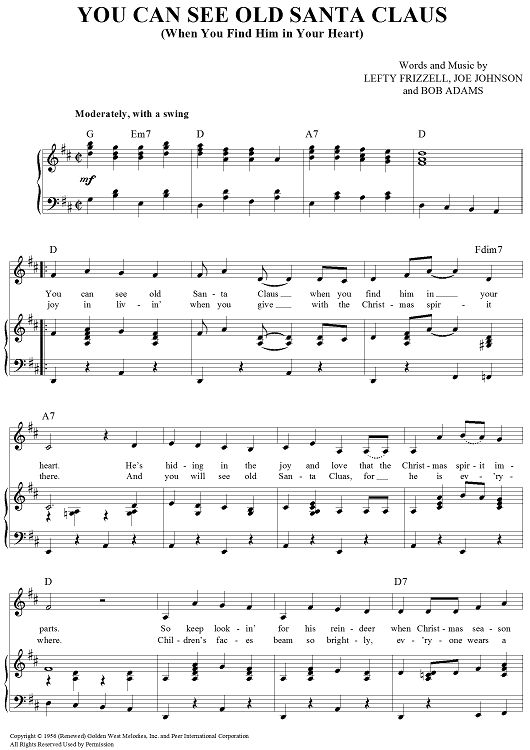 78 Best Images About Christmas Sheet Music On Pinterest