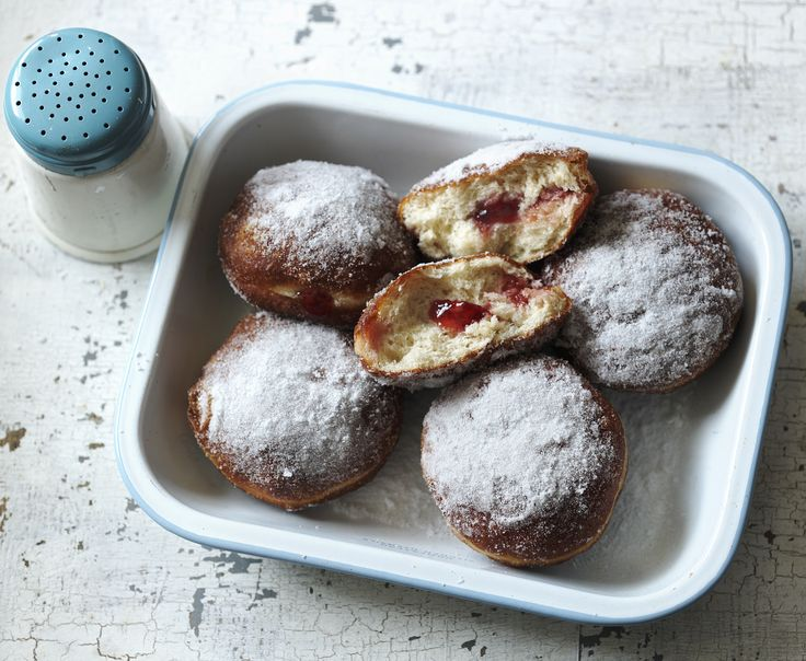 Jam doughnuts are unbeatable when eaten warm and covered in sugar