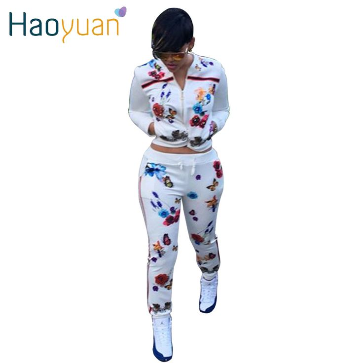 HAOYUAN 2017 Autumn Two Piece Set Women Clothes Tracksuits Long Sleeve Sweatshirts Hoodie+Pants Woman Track Suit 2 Piece Outfit