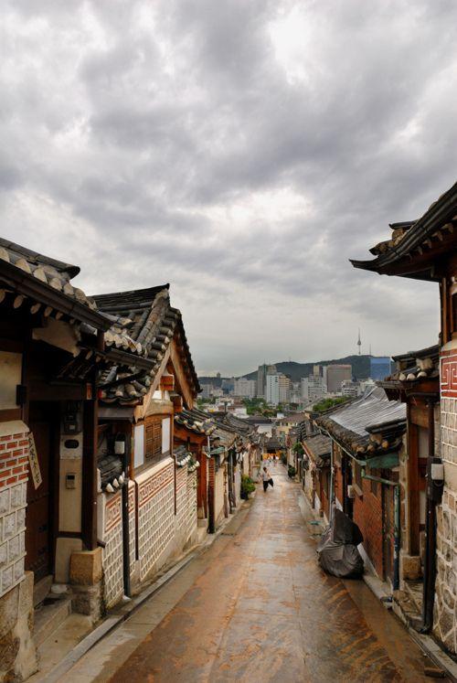Korean traditional houses, or hanok, in Seoul