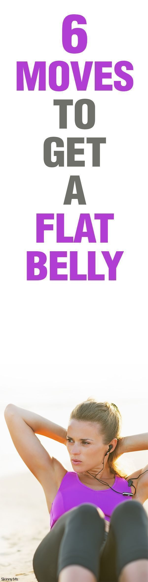 6 Moves to Get a Flat Belly. Strengthen your core and boost your metabolism all at once! Only a yoga mat and interval timer needed.