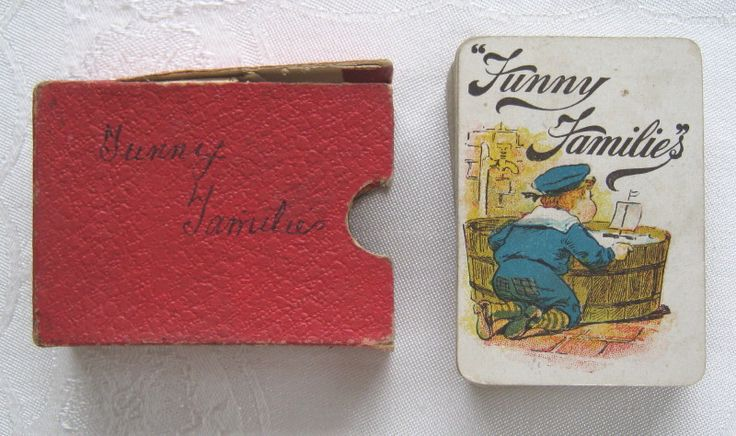 "Victorian or Edwardian antique ""Funny Families"" card game - similar to Happy Families (c.1880-1910) (SOLD May 2010) - www.vanishederas.com"