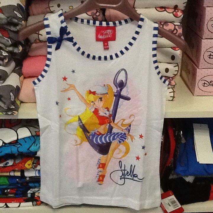 Maglietta bambina senza manica WINX 5 anni bianca idea regalo