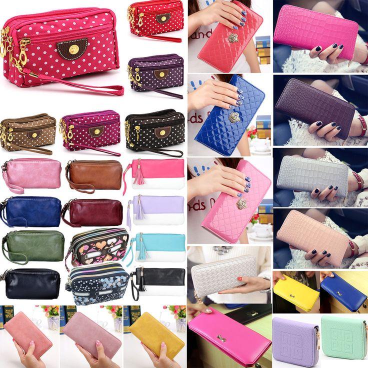 Newly Women Lady PU Leather Clutch Wallet Long Card Holder Case Purse Handbag #Unbranded