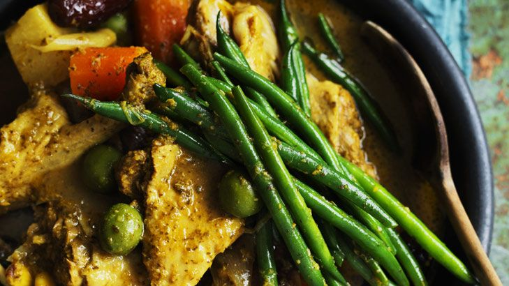 Neil Perry's flavoursome duck, olive and date tagine.