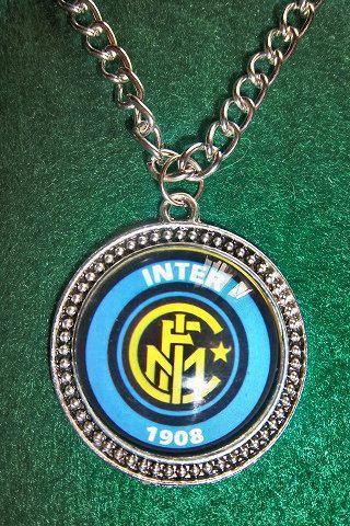 Inter Milan soccer teams pendant  sport by sportpendants on Etsy