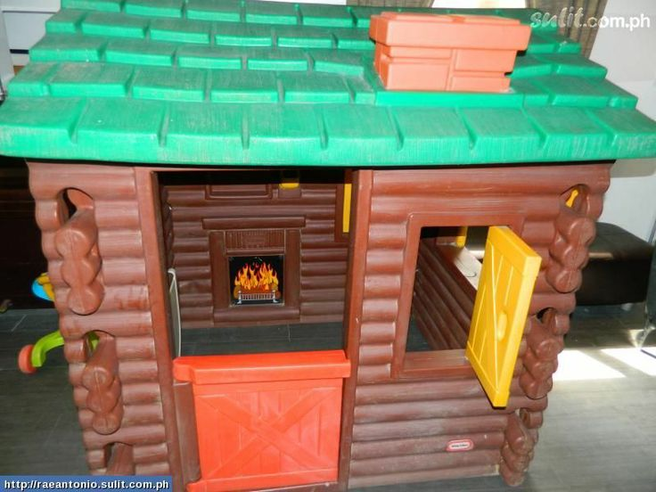Little Tikes log cabin. I'm missing the fire sticker in mine.  Hmm. how to recreate it.